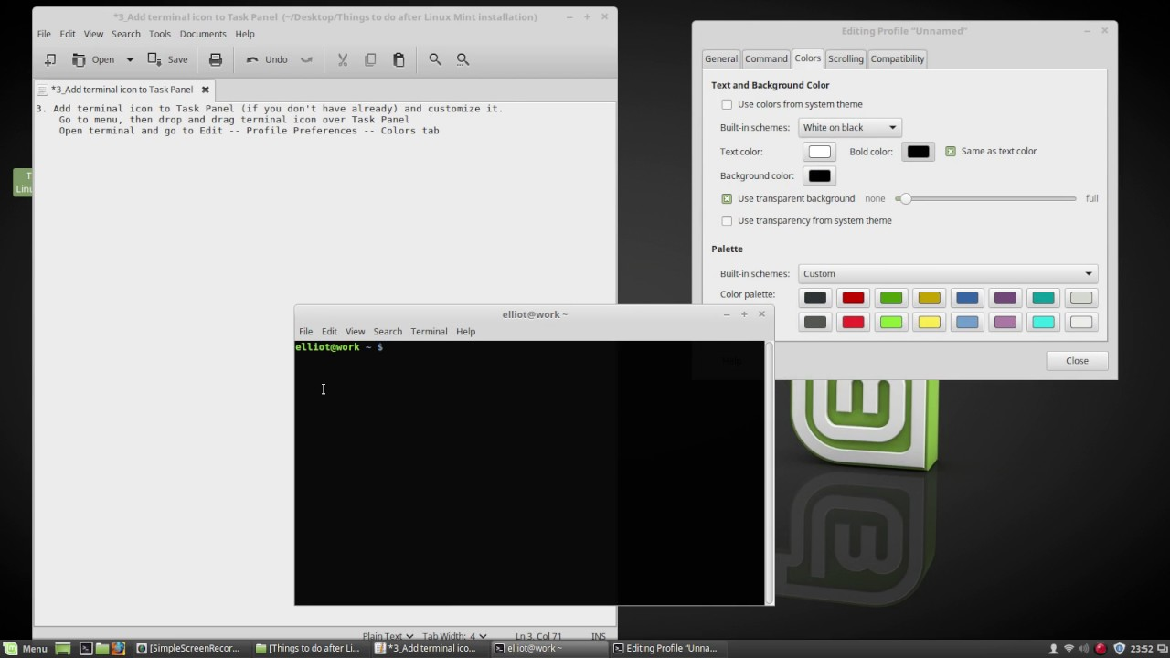 3  Add terminal icon to Task Panel - Things to Do After Linux Mint 18  Installation