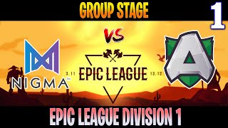 Nigma vs Alliance Game 1 | Bo3 | Group Stage Epic League Division 1 | Dota 2 Live
