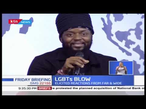 Morgan Heritage's son reads news on KTN News