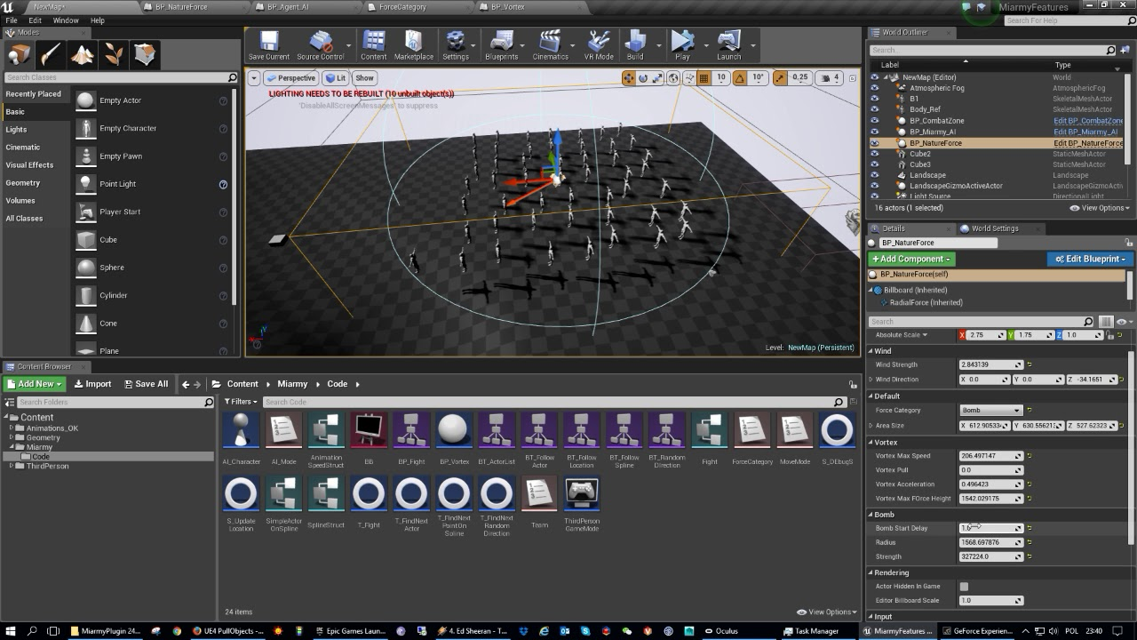 UE4 Push and Pull Forces