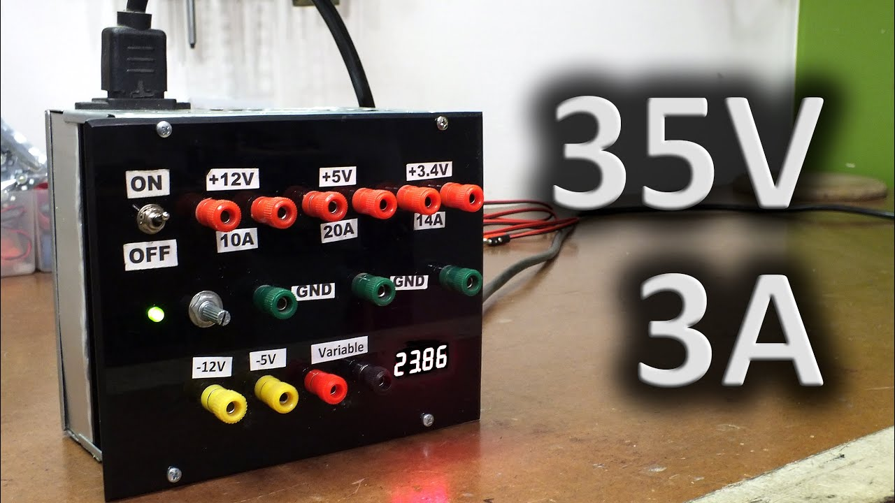 Bloc D Alimentation Variable 35v 3a Youtube