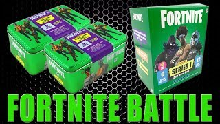 Panini FORTNITE TRADING CARDS SERIE 1 | COLLECTORS TIN vs. MEGA BLASTER BOX | Unboxing