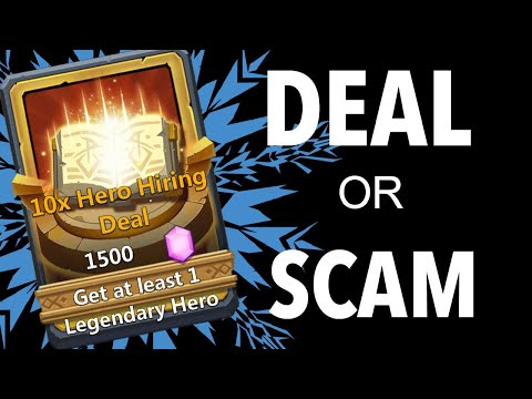 "Castle Clash: 50k Gem Test Of The New ""10 Hero Hiring Deal"""