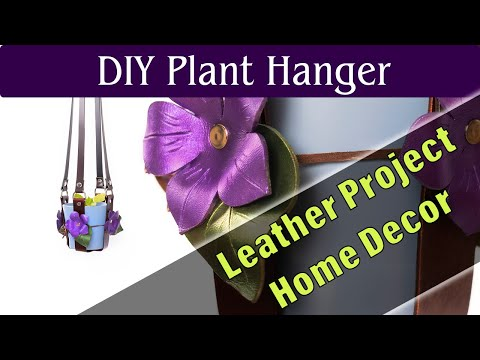 DIY home decor projects - How to make a leather plant hanger for hanging plants from your ceiling