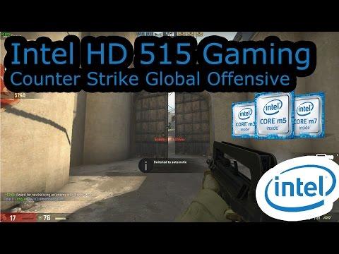 """Intel HD 515 Gaming - Counter Strike Global Offensive - Core M3-6Y30, UX305CA, MacBook 12"""""""