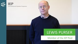Institutional Evaluation Programme (IEP) - Lewis Purser, IEP Expert thumbnail