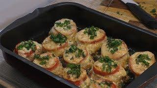 Котлеты в духовке с помидорами и сыром. ВКУСНЯТИНА!