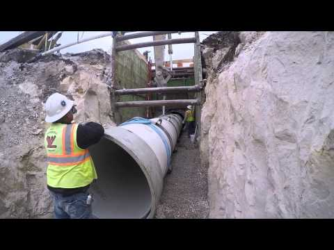 Installing FLOWTITE Pipe Inside of a Tunnel using Casing Spacers