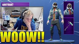 NINJA REACT *NEW* ABSTRACT SKIN !! Fortnite Battle Royale !