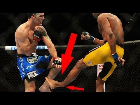 Anderson Silva Breaks His Leg