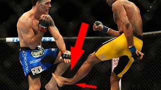 Anderson Silva Breaks His Leg