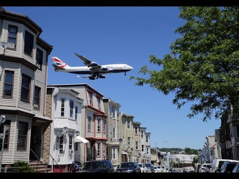 Rerouted airplanes rattle East Boston