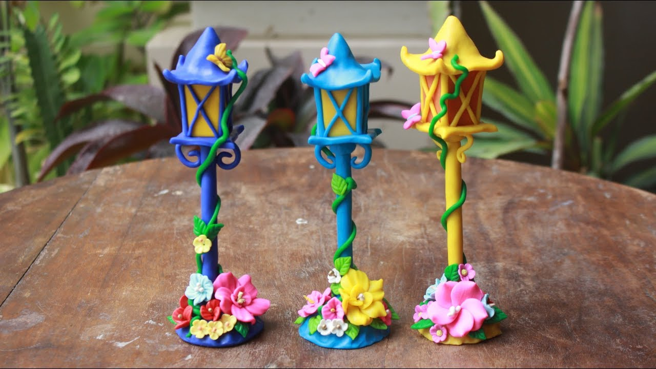 Polymer Clay Lamp Post Fairy Garden