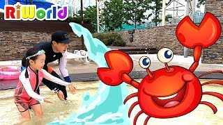 RIWON and Papa at the Water Park Boo Boo story song RIWORLDBEST