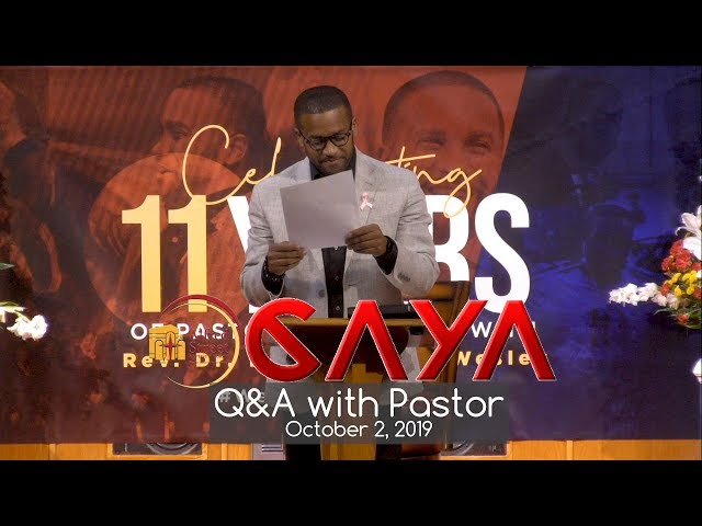 October CAYA 2019 Q&A with Pastor Wesley