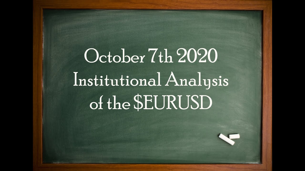 EXCLUSIVE Institutional Analysis for EURUSD - Oct 7th 2020