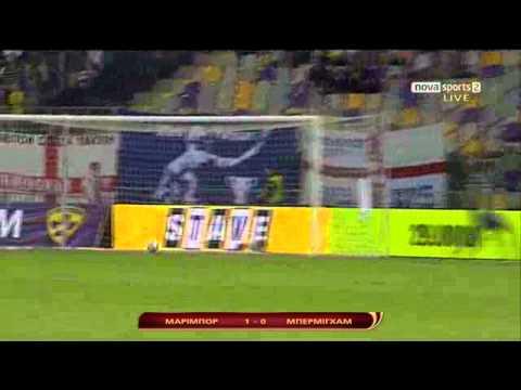 Europa league:maribor-birmingham funny goal 29.9.2011