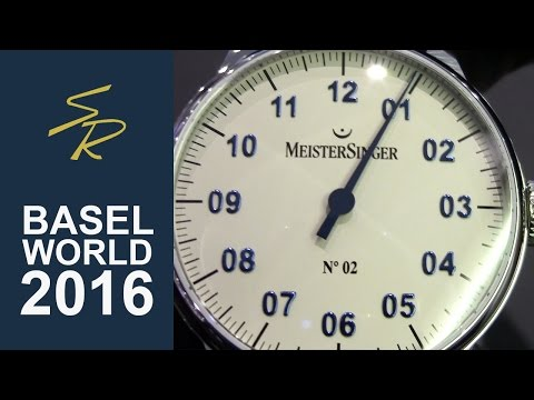 Meistersinger N.02 Manual Movement 43mm Ivory Dial with blue numbers Baselworld 2016
