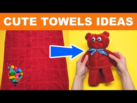 6 Beautiful Crafts With Towels! Tutorial On How To Make Towel Animals | Towel Art | A+ hacks