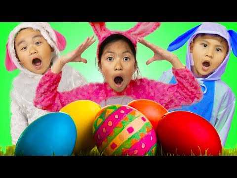 Wendy Pretend Play Huge Easter Surprise Eggs Hunt w/ Liam & Lyndon