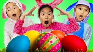 Wendy Pretend Play Huge Easter Surprise Eggs Hunt w/ Liam & Lyndon thumbnail