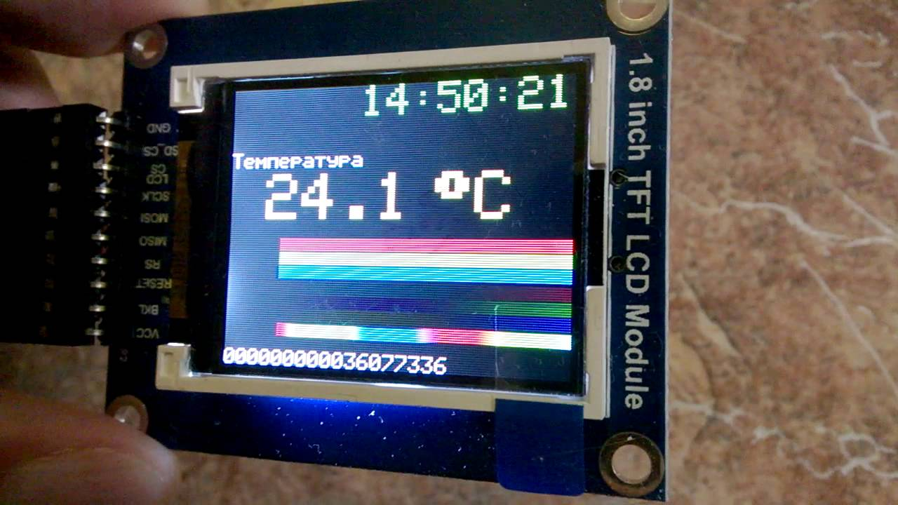 Color-shift of SPI TFT LCD 1 8 Display / Arduino Nano / Adafruit ST7735