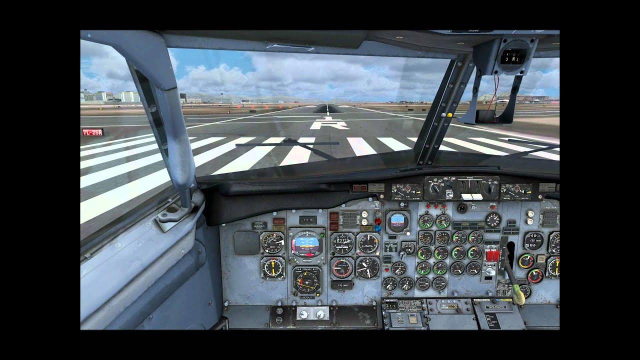 Milviz 737-200 Takeoff