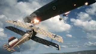 HELL IN AIR ! Epic Dogfight in FPS Game on PC Battlefield 1