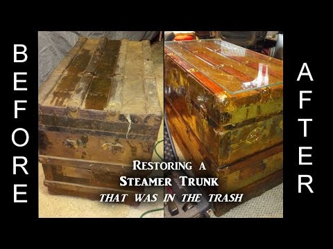 How to Remove Rust from a rusty steamer trunk - Restoring Steamer Trunk