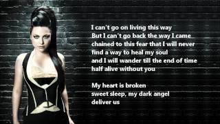 Evanescence - My Heart Is Broken /\ Lyrics On A Screen