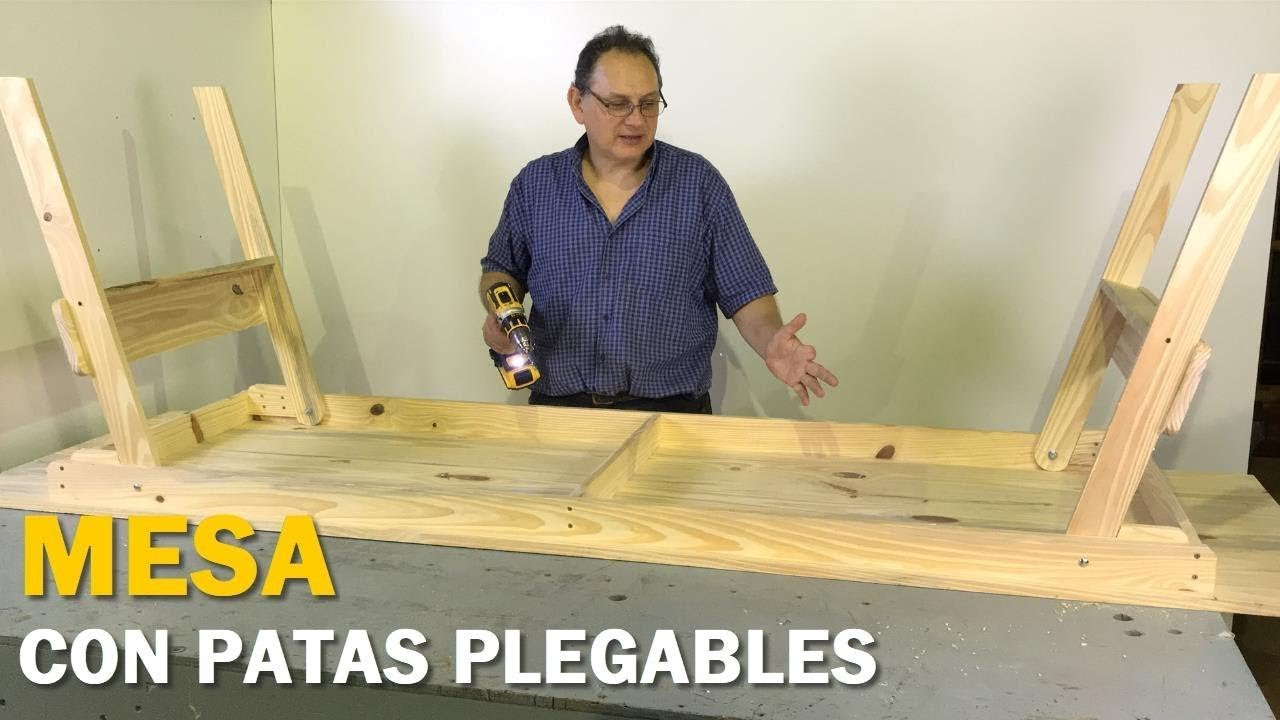 Fabricar Mesa Plegable Madera.Mesa Con Patas Plegables De Madera Para 10 Personas Paso A Paso Facil Tutorial De Carpinteria