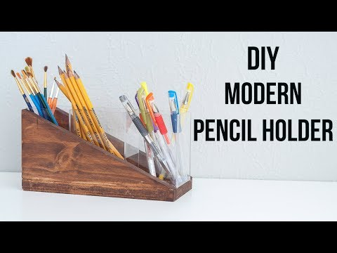 DIY Modern Pencil Holder - Acrylic Sheet Project