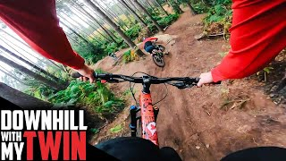 DOWNHILL RIDING AGAINST MY TWIN BROTHER!!
