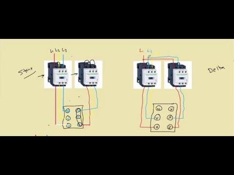 دورة التحكم الآلى الدرس السادس عشر دائرة القوى لتشغيل محرك ستار دلتا Star Delta power circuit