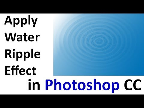How To Make Water Ripple Effect In Photoshop