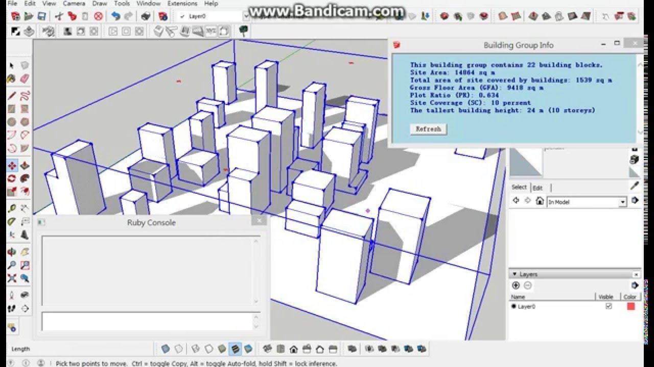 SketchUp extension - MF Random Buildings Generator v1 0 7