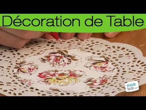 Customiser des napperons en papier pour votre table youtube for Un set de table
