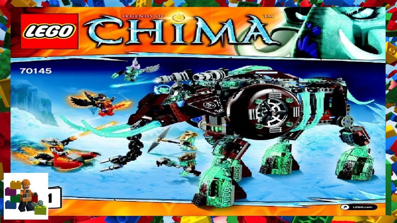 Lego Instructions Chima 70145 Maulas Ice Mammoth Stomper