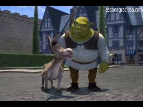 Escena Graciosa de ''Shrek 1''-Canción de Bienvenida a Duloc