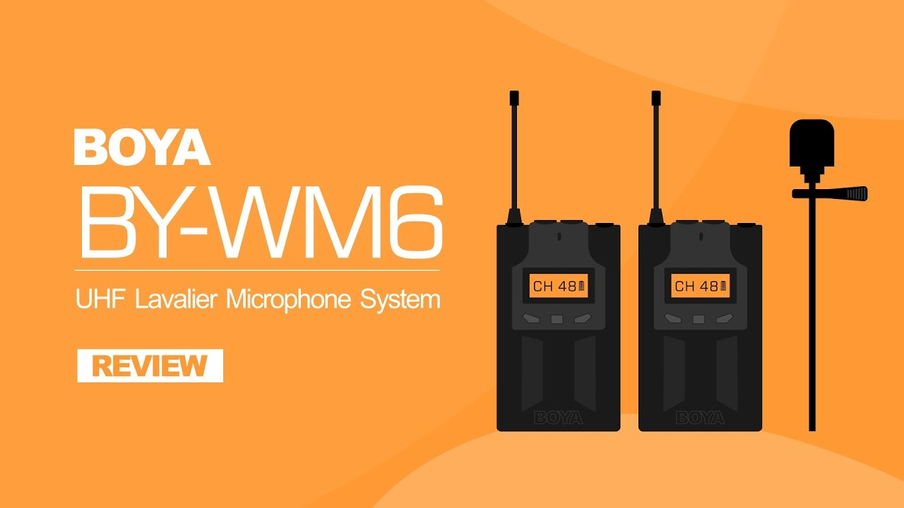 microphone review uhf wireless microphone system boya by wm6 youtube. Black Bedroom Furniture Sets. Home Design Ideas