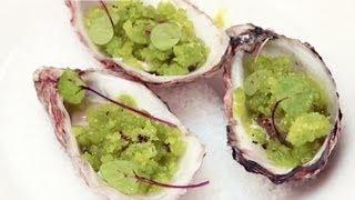Simon Hulstone, Michelin Star Chef, Creates A Rock Oyster And Apple Granite Recipe