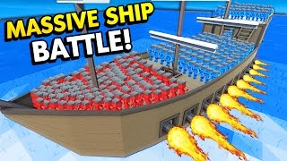 BATTLE ON THE BIGGEST SHIP IN ANCIENT WARFARE 2! (Ancient Warfare 2 Funny Gameplay)