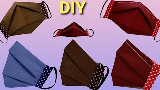 New Style Plate Face Mask Tutorial Easy Pattern Face Mask Make Breathable Mask