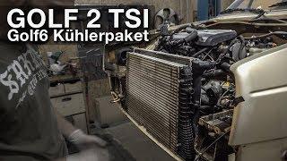 Golf 6 Kühler im Golf 2 - Erste Anpassungen   Ladeluftkühler   VW Golf2 2.0 TSI Projekt [G2-12]