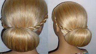 Evening/Prom/Wedding Hairstyle.Donut Hair Bun Updo Hairstyles Tutorial.Penteados
