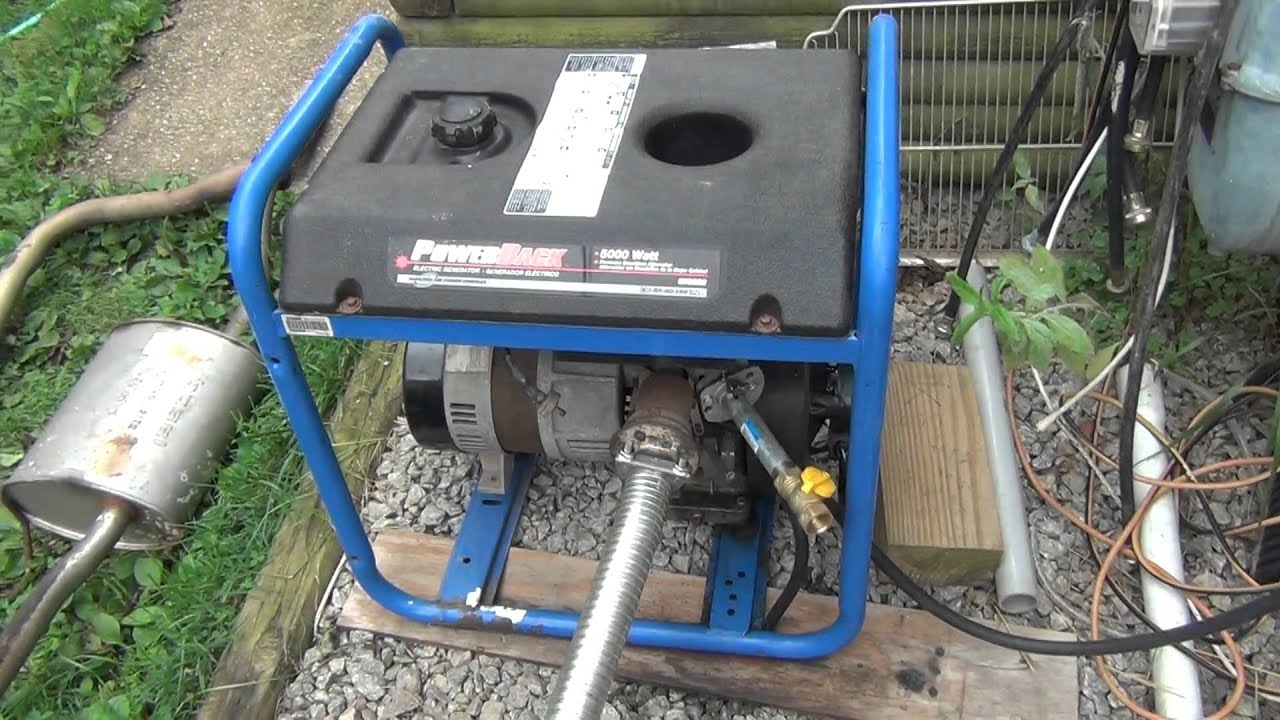 How to run generator on natural gas without carburetor part 2