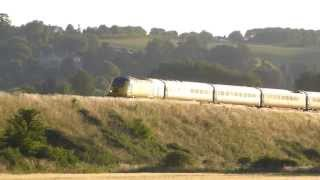 HST Network Rail Test Train 43013+43014 1z17 @ Newton st Loe, Bath 11-07-13