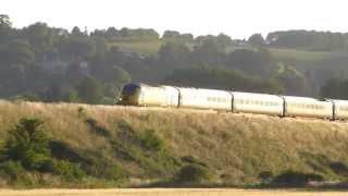 HST Network Rail Test Train 43013+43014 1z17 @ Newton st Loe, Bath 11-07-13
