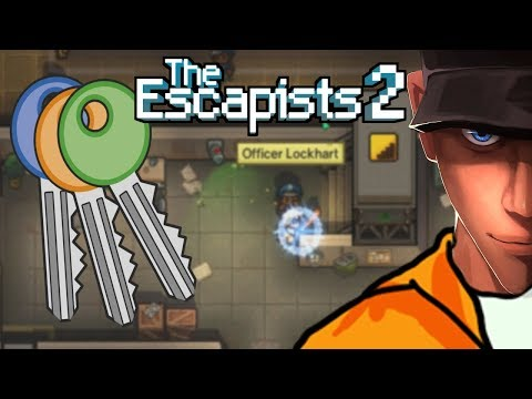 The Escapists 2 H.M.P OFFSHORE Finding Keys! Red and Cyan | Let's play The Escapists 2 Gameplay