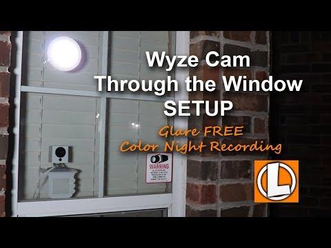 Wyze Cam WiFi Security Camera Behind Glass Window Setup + Lighting To Prevent Glare